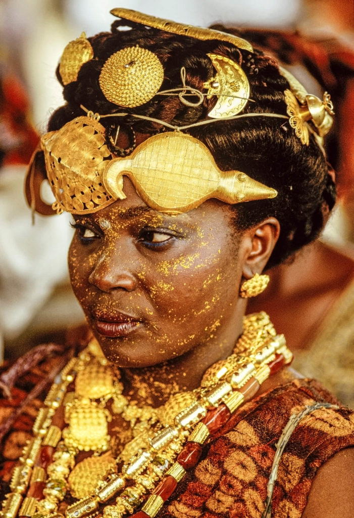 Adioukrou Queen Mother Attending the Silver Jubilee, Ivory Coast