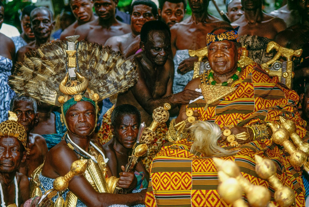Asantehene with Chief Sword Bearer, Ghana