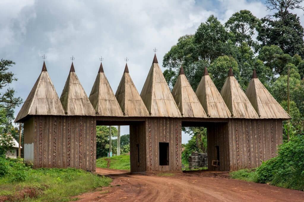 Entrance to the Bangoua Palace, Cameroon