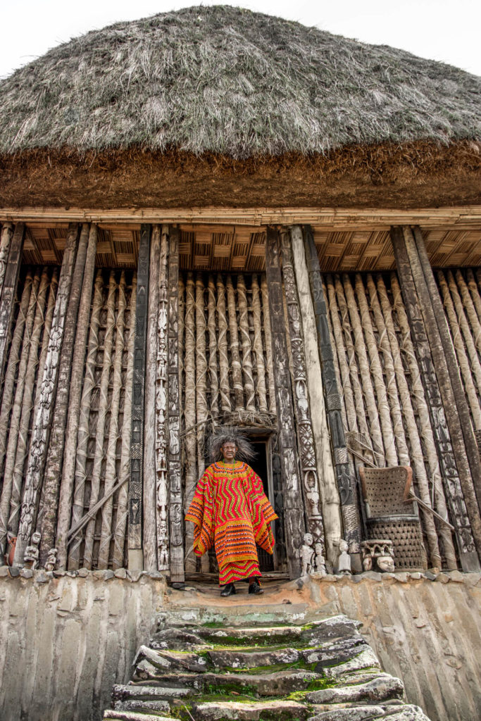 The Fon of Bafut at his Ancestral Meeting Place, Cameroon