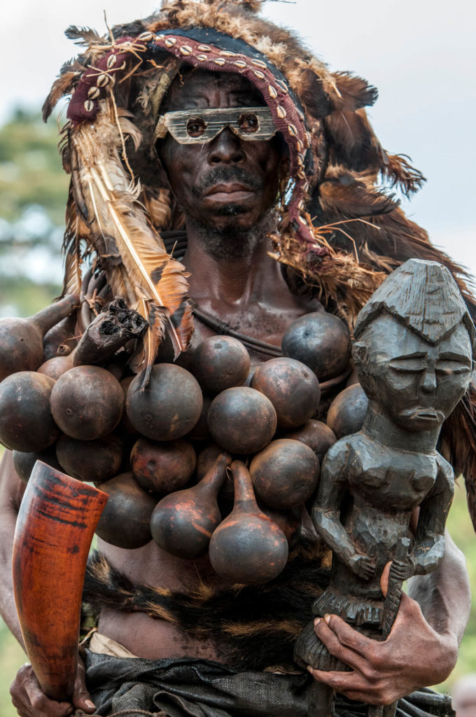 Kuba Protector of the King with Powerful Talismans, DR Congo