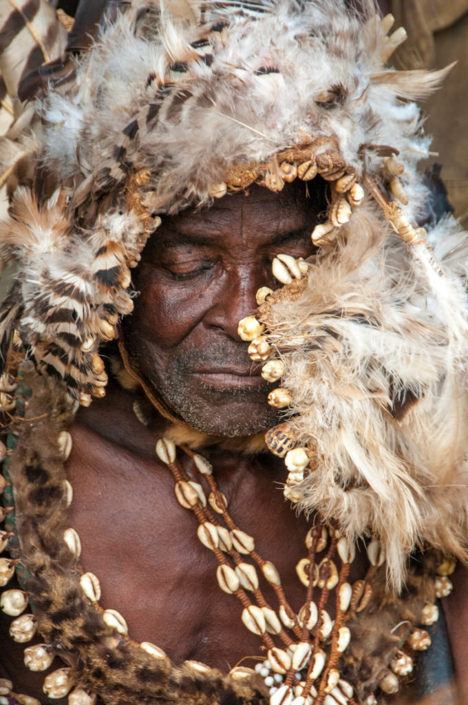 Kuba Chief in a Moment of Contemplation, DR Congo