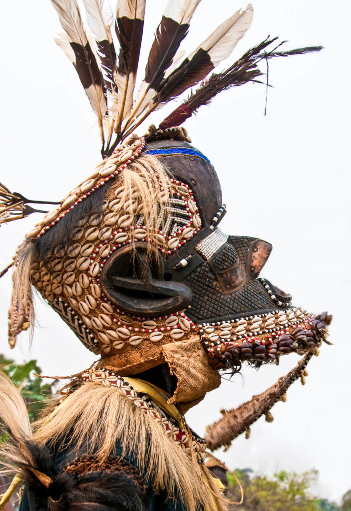 Kuba Mboom Mask Represents the Son of the Creator God Woot, DR Congo