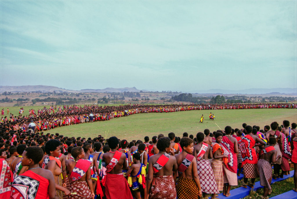 Gathering of the Swazi Reed Dancers
