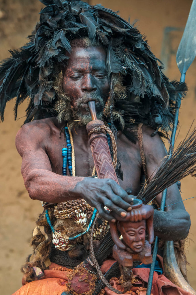 Kuba Minister of Defense with Ceremonial Pipe, DR Congo