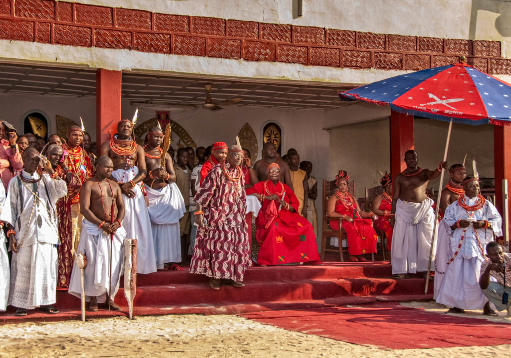 The Oba of Benin and his Court, Nigeria
