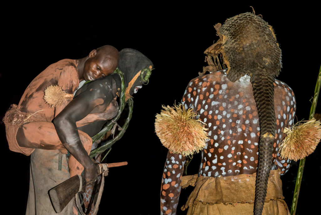 Pende Sorcerer's Messengers at Night, DR Congo